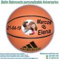 Balón Baloncesto Personalizable Aniversarios