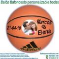 Balón Baloncesto Personalizable diseño Bodas-Novios