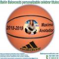 Balón Baloncesto Personalizable diseño Celebrar Títulos