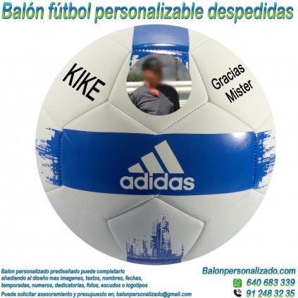 Balón Fútbol Personalizable con Fotos y textos regalo Despedida adidas