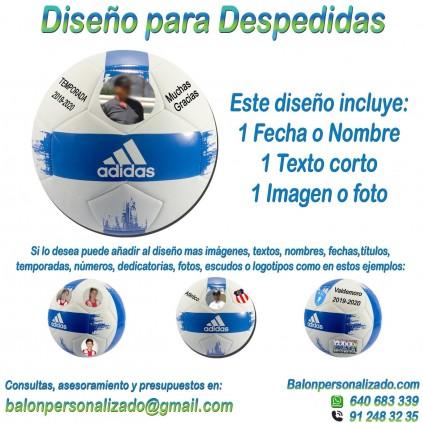 Balón Personalizado con imágenes y textos Fútbol Modelo adidas EPP2 Regalo Despedida, dedicatoria, fotos, fechas