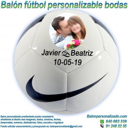 Balón Fútbol Personalizable con Fotos nombres fecha regalo bodas nike