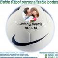 Balón Fútbol Personalizable Bodas-Novios Nike Pitch