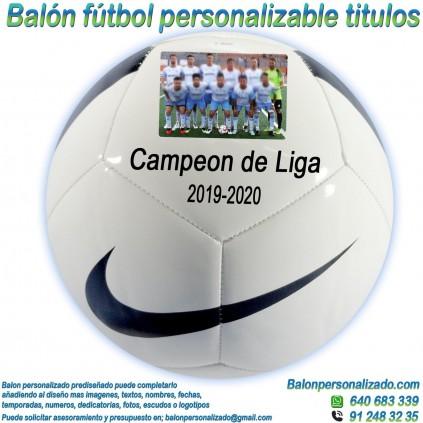 Balón Fútbol Personalizable con Foto nombre fecha celebrar titulo Nike
