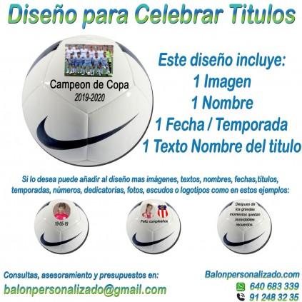 Balón Personalizado con imágenes, nombres fecha de Fútbol Nike pitch conmemoración de celebracion titulos