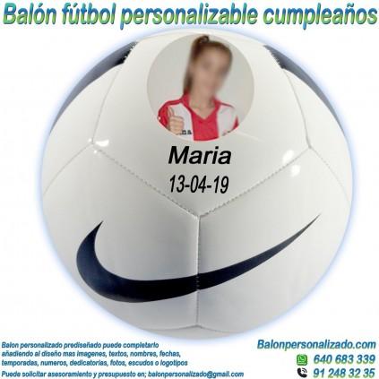 Balón Fútbol Personalizable con Fotos y nombre regalo Cumpleaños nike