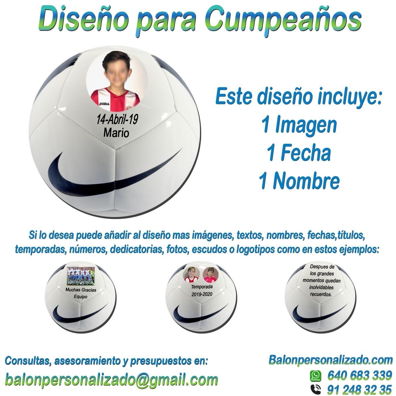 cuerno Ver insectos Señora  Balón Fútbol Personalizable con Fotos y nombre regalo Cumpleaños nike