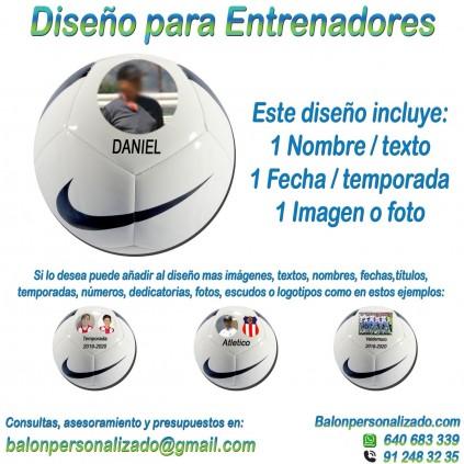 Balón Personalizado con imágenes y nombre fecha Fútbol modelo nike pitch Regalo Entrenador, dedicatoria