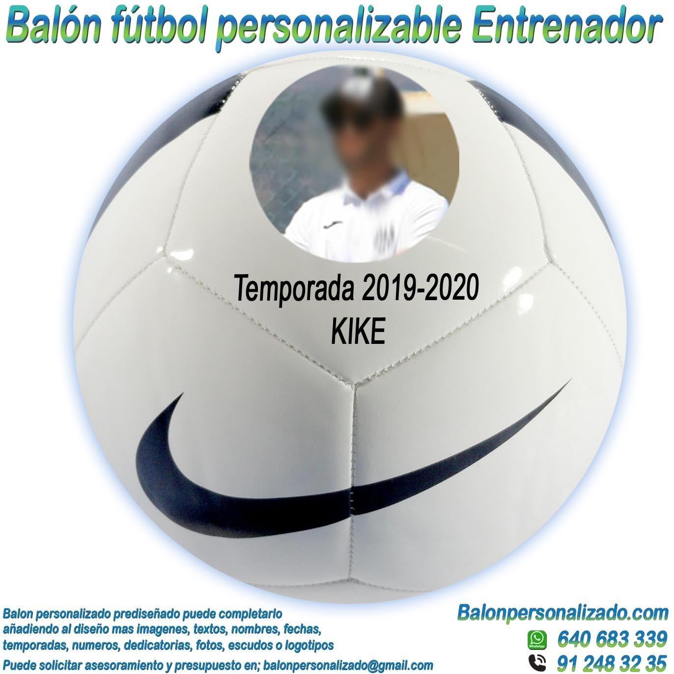Alojamiento Provisional conductor  Balón Fútbol Personalizable con Fotos y nombre regalo Entrenador nike