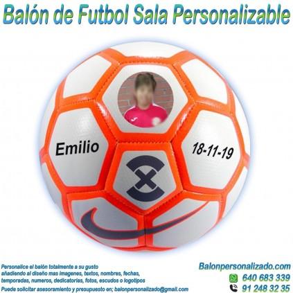 Balón Fútbol Sala Personalizable imagen texto nombre dedicatoria