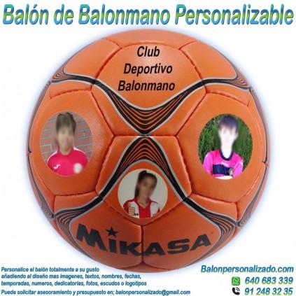 Balón Balonmano Personalizable imagen texto nombre dedicatoria escudo