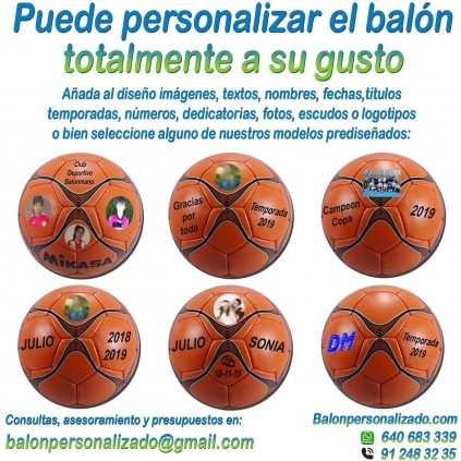 Balón Balonmano Personalizado Total añadir nombres, números, banderas, escudos, imágenes, fotos, dedicatorias