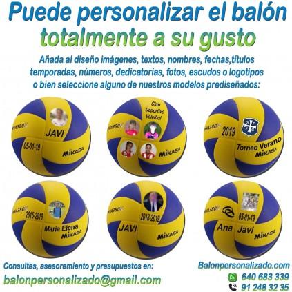 Balón Voleibol Personalizado Total añadir nombres, números, banderas, escudos, imágenes, fotos, dedicatorias