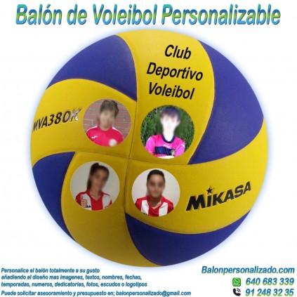 Balón Voleibol Personalizable imagen texto nombre dedicatoria escudo