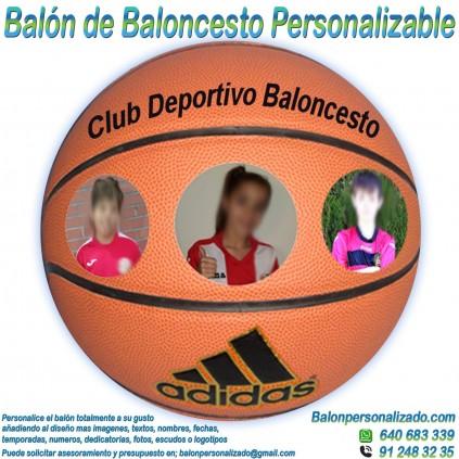 Balón Baloncesto Personalizable imagen texto nombre dedicatoria escudo