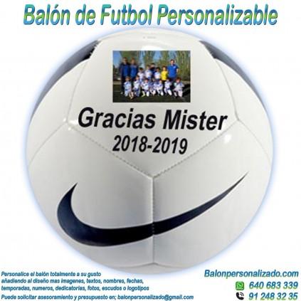 Balón Fútbol Personalizable imagen texto nombre dedicatoria pitch