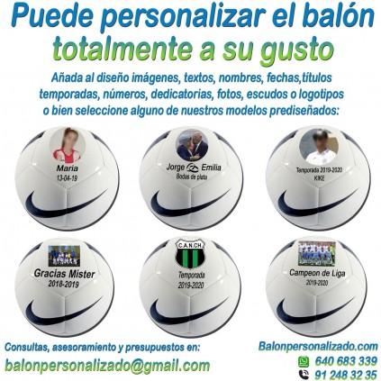 Balón Fútbol Personalizado Total Nike Pitch añadir nombres, números, banderas, escudos, imágenes, fotos, dedicatorias