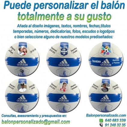 Balón Fútbol Personalizado Total adidas EPP2 añadir nombres, números, banderas, escudos, imágenes, fotos, dedicatorias
