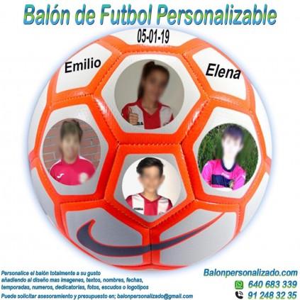 Balón Fútbol Personalizable imagen texto nombre dedicatoria nike Strike