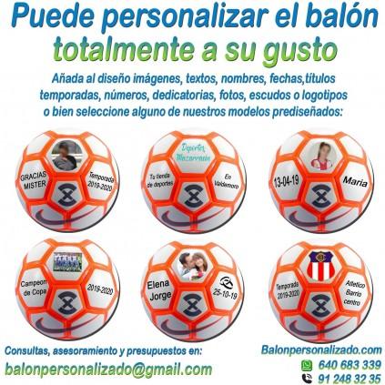 Balón Fútbol Personalizado Total Nike Strike añadir nombres, números, banderas, escudos, imágenes, fotos, dedicatorias