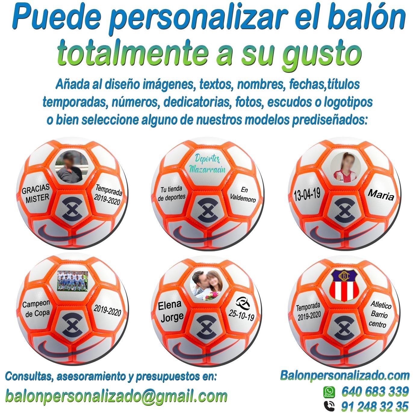 Prematuro interfaz becerro  Balón Fútbol Personalizable imagen texto nombre dedicatoria nike Strik