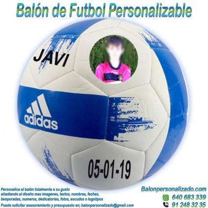 Balón Fútbol Personalizable imagen texto nombre dedicatoria adidas