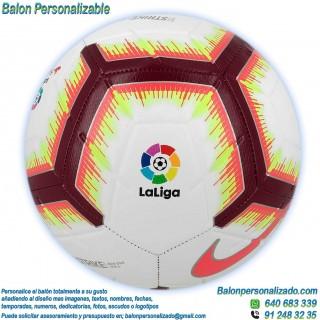 Balón Fútbol Personalizable imagen texto Nike la liga 2018-2019