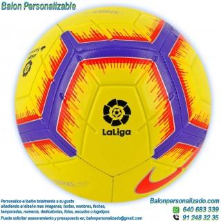 Balón Fútbol Personalizable imagen texto Nike la liga 2018-2019 amarillo
