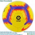 Balón Fútbol Personalizado Nike la Liga 2018-2019 Amarillo