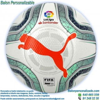 Balón Fútbol Personalizable imagen texto Puma la liga 2019-2020