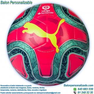 Balón Fútbol Personalizable imagen texto Puma la liga 2019-2020 Rosa