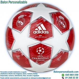 Balón Fútbol Personalizable con imágenes o textos del Real Madrid