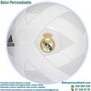 Balón Fútbol Personalizable con textos o imágenes del Real Madrid