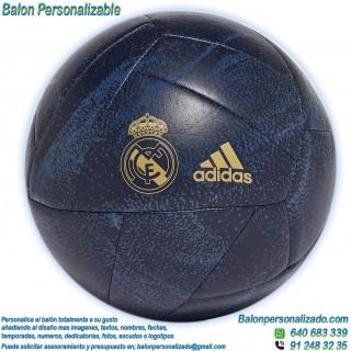 Balón Fútbol Personalizable con textos o imágenes del Real Madrid azul