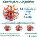 Balón Fútbol Sala Personalizable diseño Cumpleaños